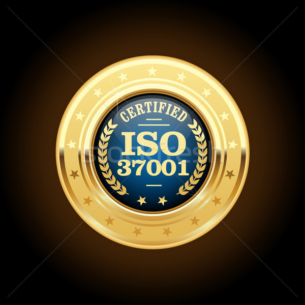 ISO 37001 - Anti-bribery management systems medal Stock photo © gomixer