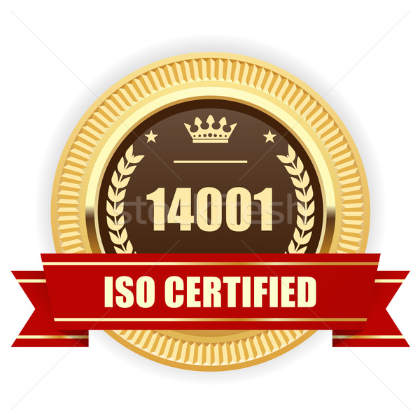 ISO 14001 certified medal - Environmental management Stock photo © gomixer
