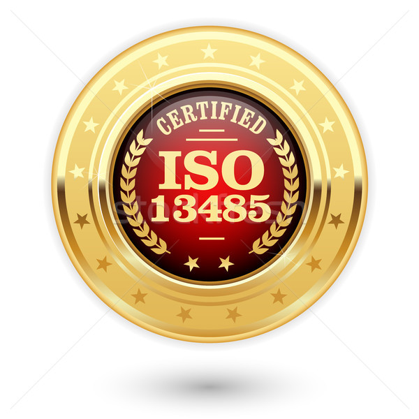 Stock photo: ISO 13485 certified medal - Medical devices