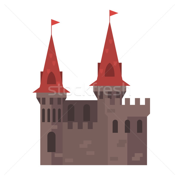 Medieval castle with towers - stronghold Stock photo © gomixer