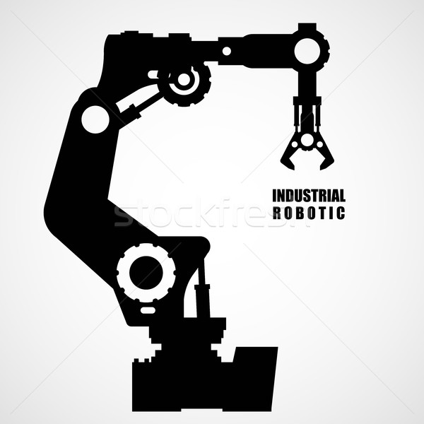 Industrial robotics - production line machinery silhouette Stock photo © gomixer