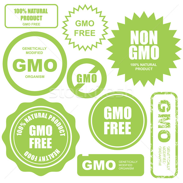 GMO free stamps, stickers and labels Stock photo © gomixer