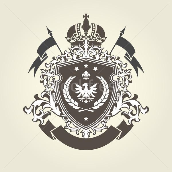 Real abrigo armas corona escudo águila Foto stock © gomixer