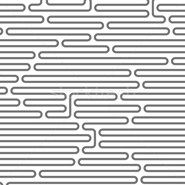 Maze style horizontal pattern - rounded lines Stock photo © gomixer