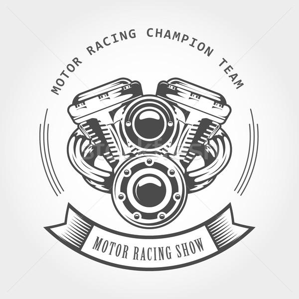Motocicleta motor motor bicicleta mostrar emblema Foto stock © gomixer