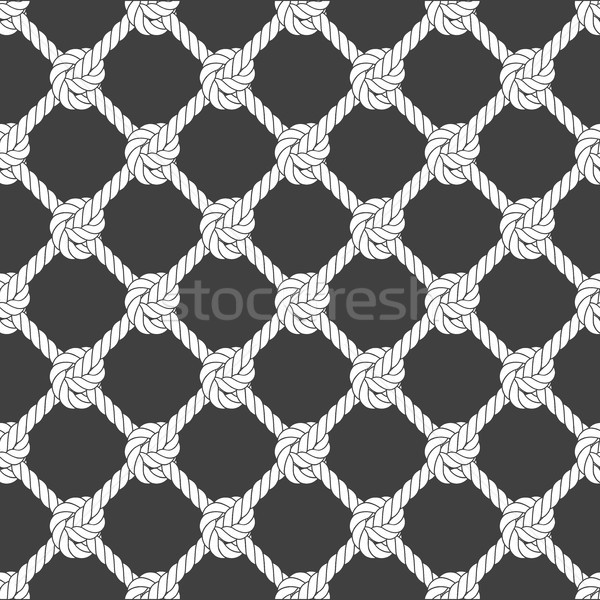 Seamless diagonal rope mesh - rope grid pattern Stock photo © gomixer