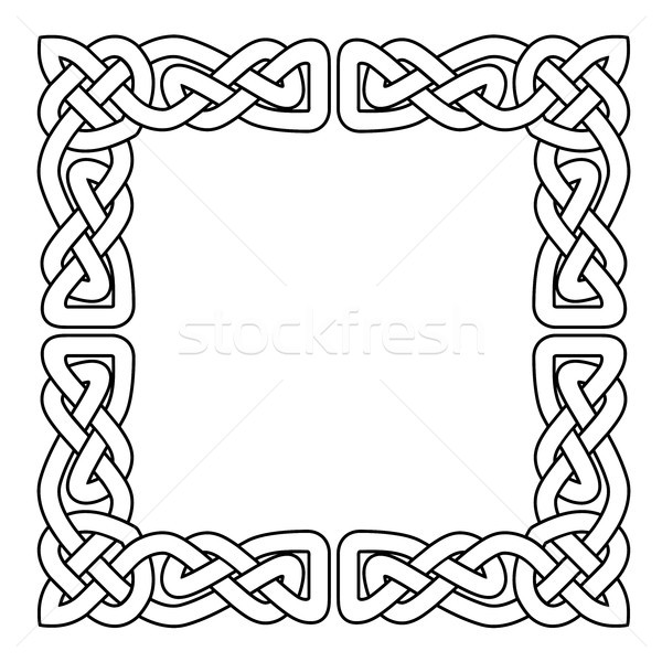 Celtic national seamless ornament interlaced tape Stock photo © gomixer
