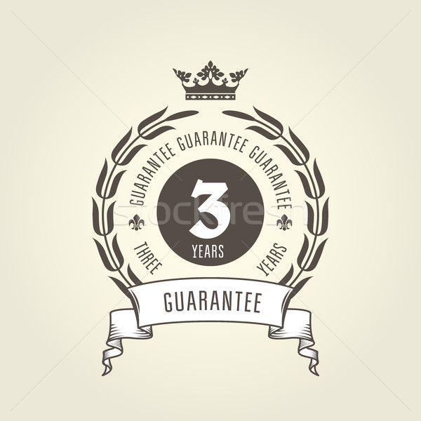 Three years warranty seal -  chic guarantee emblem Stock photo © gomixer