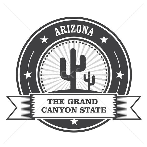 Arizona stempel cactus lint reizen zegel Stockfoto © gomixer