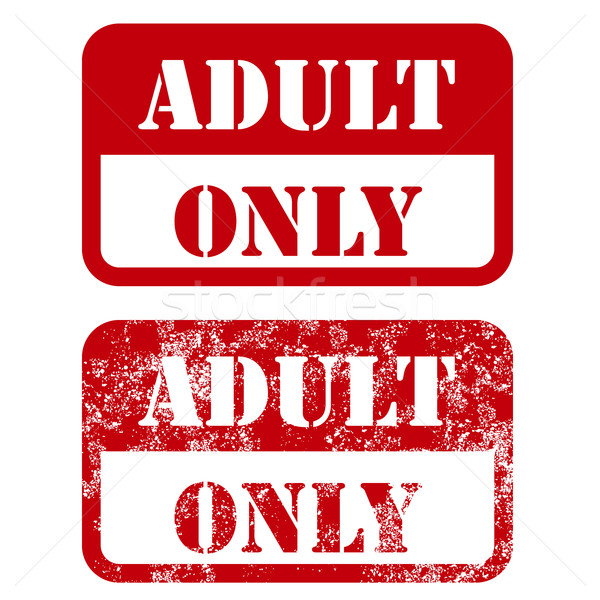 Adult only sign - shabby stamp Stock photo © gomixer