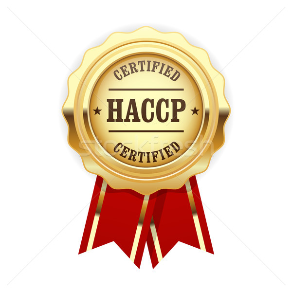 HACCP certified site sign - quality standard golden rosette  Stock photo © gomixer