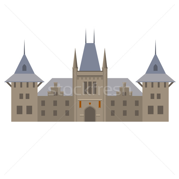 Medieval luxurious palace - castle with towers Stock photo © gomixer