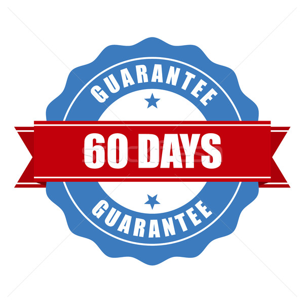 60 days guarantee stamp - warranty sign Stock photo © gomixer
