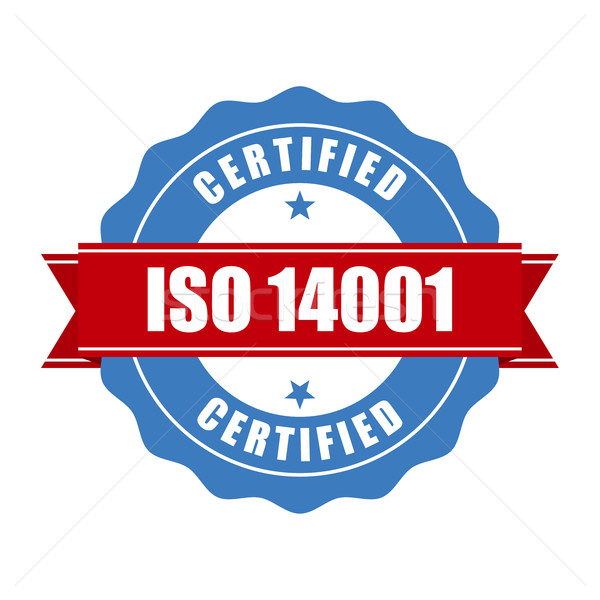 ISO 14001 certified stamp - quality standard seal Stock photo © gomixer