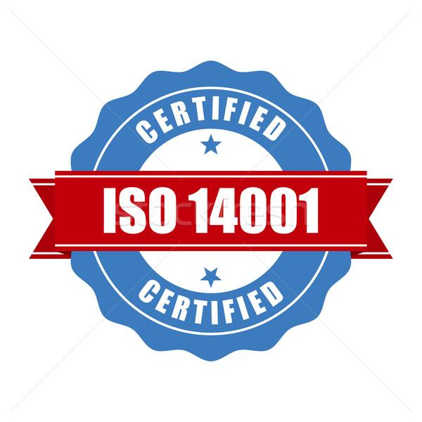 Iso certificato timbro qualità di serie sigillo Foto d'archivio © gomixer