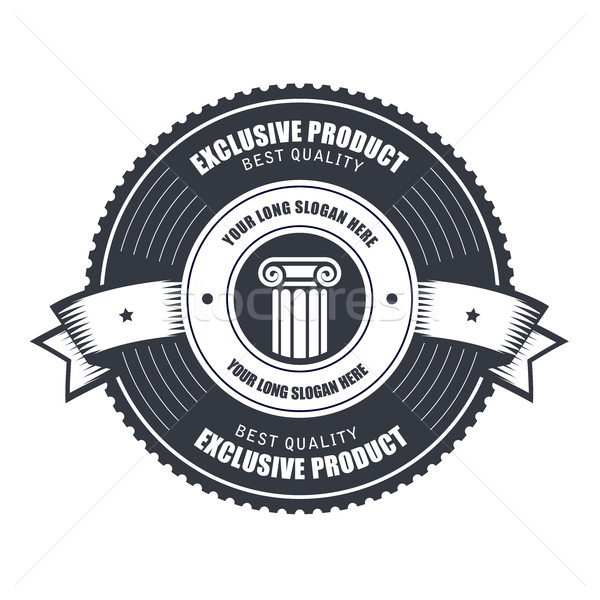 Badge or emblems template for product, emblem or service mark Stock photo © gomixer