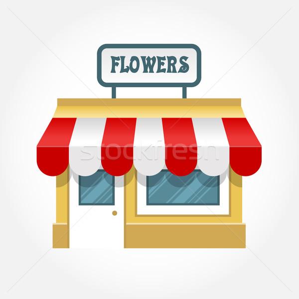 небольшой магазин икона мало магазине фасад Сток-фото © gomixer
