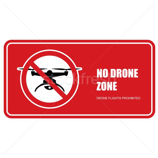 No drone zone sign - quadcopter flights prohibited Stock photo © gomixer