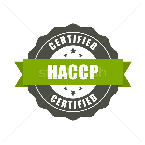 HACCP certified stamp - quality standard seal, Hazard Analysis a Stock photo © gomixer