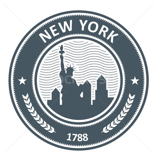 New York damga heykel özgürlük seyahat mühürlemek Stok fotoğraf © gomixer
