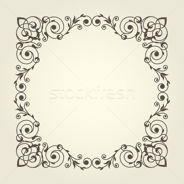 Art noveau estilo praça quadro linhas linha Foto stock © gomixer
