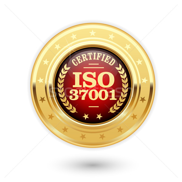 ISO 37001 certified medal - Anti bribery management systems Stock photo © gomixer