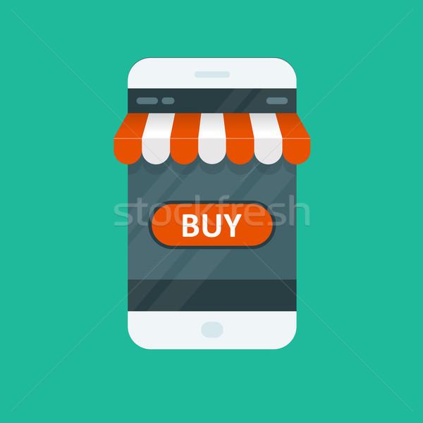 Shopping online ecommerce app smartphone telefono Foto d'archivio © gomixer