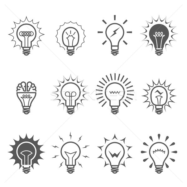 Ampul simgeler fikir yenilik ilham semboller Stok fotoğraf © gomixer