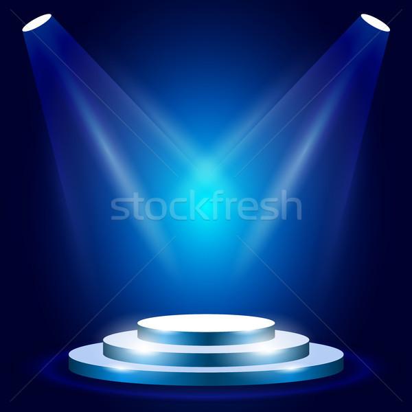 этап подиум награда церемония синий сцена Сток-фото © gomixer