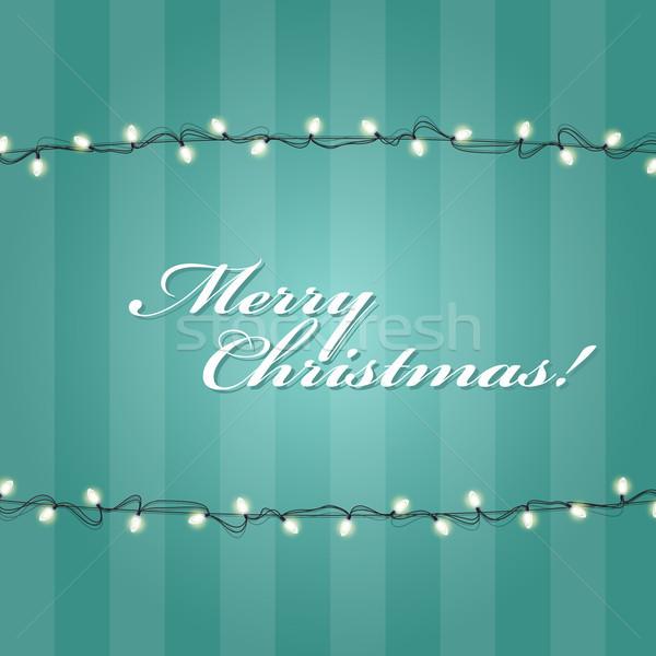 Christmas Lights garlands frame - festive lights Stock photo © gomixer