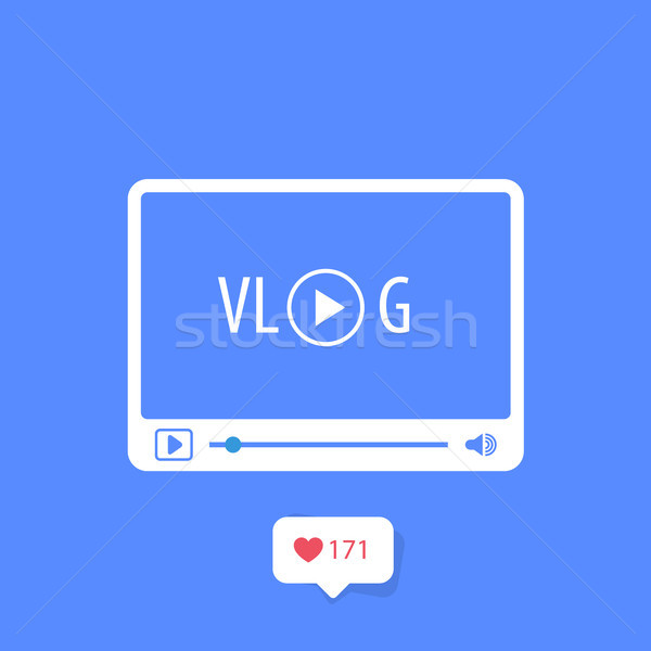 Ikon video blog medya oyuncu kanal Stok fotoğraf © gomixer