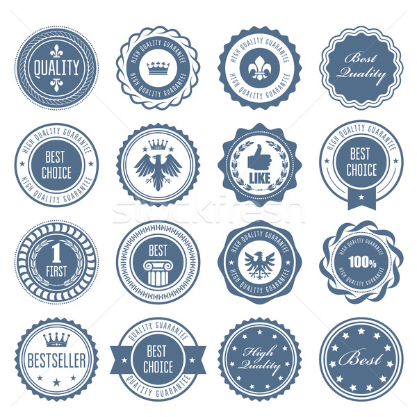 Emblems, badges and stamps - awards and seals designs Stock photo © gomixer