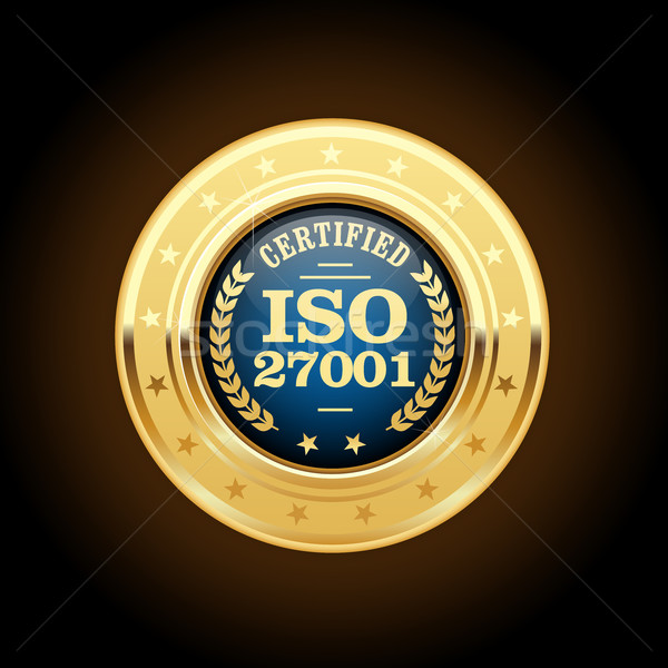 ISO 27001 standard medal - Information security management Stock photo © gomixer