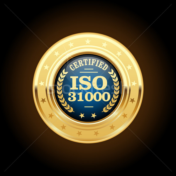 ISO 31000 standard medal - Risk management Stock photo © gomixer