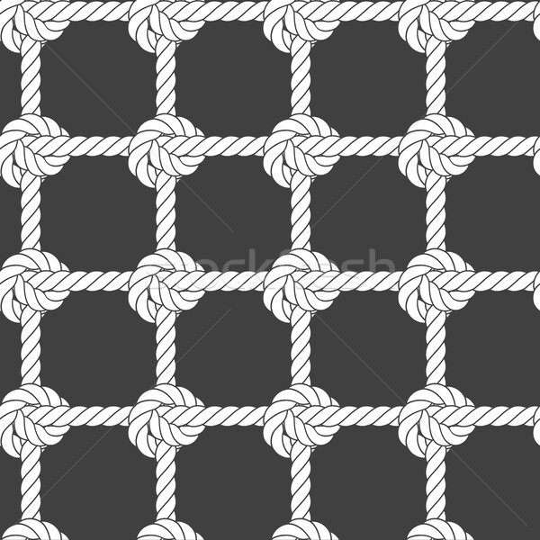 Seamless rope mesh - knots pattern Stock photo © gomixer