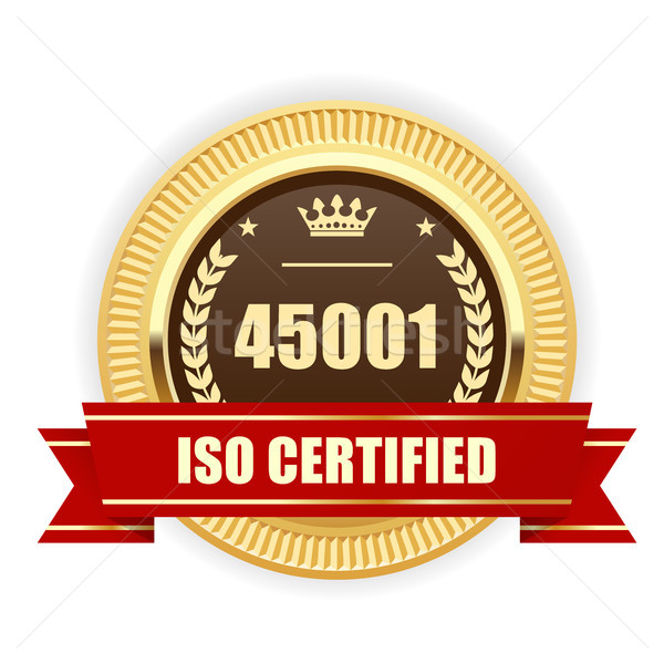 ISO 45001 certified medal - Occupational health and safety Stock photo © gomixer