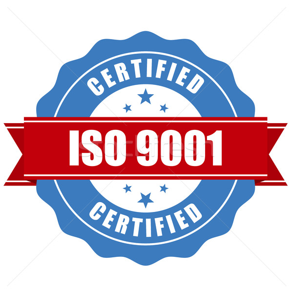 ISO 9001 certified stamp - quality standard seal Stock photo © gomixer