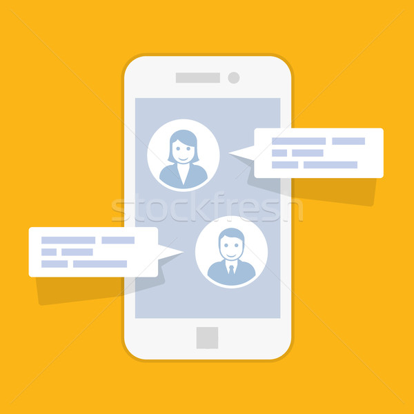 Sms messenger service interface - texting conversation Stock photo © gomixer