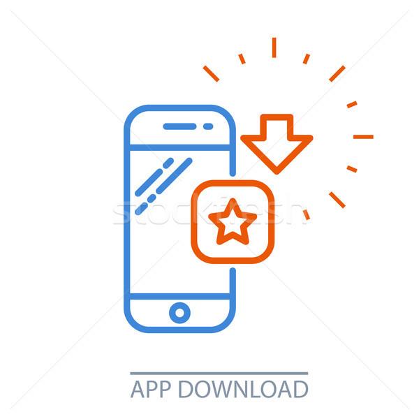 Indirmek uygulaması hareketli uygulama Stok fotoğraf © gomixer