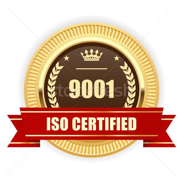 Iso certificado medalha qualidade gestão assinar Foto stock © gomixer