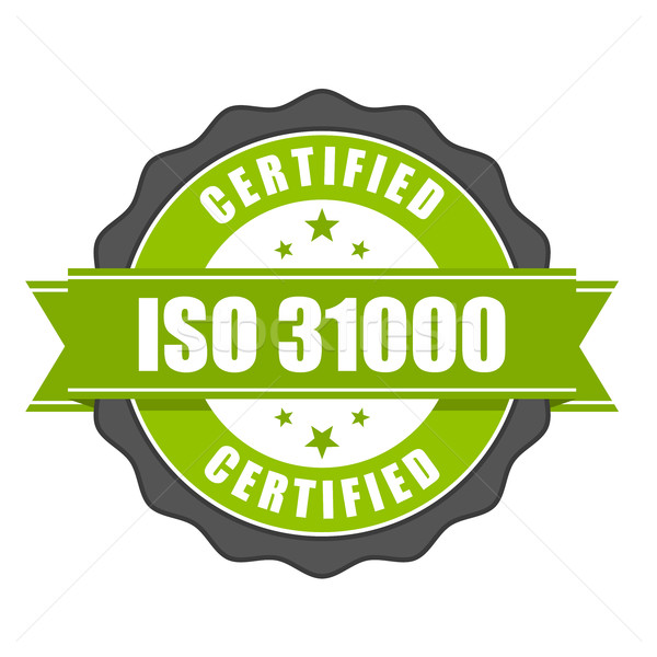 ISO 31000 standard certificate badge - risk management Stock photo © gomixer