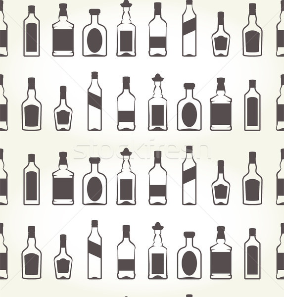 álcool sem costura bebida alcoólica fundo bar garrafa Foto stock © gomixer