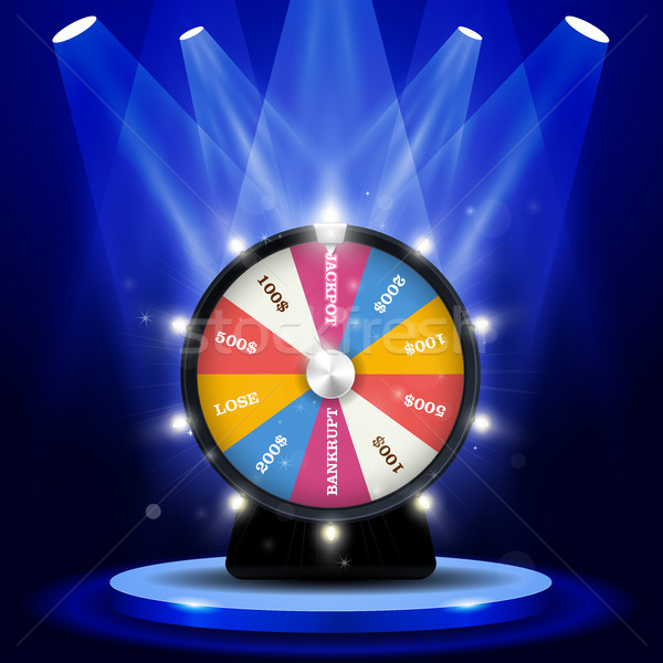 Lottery big win - jackpot on wheel of fortune, gambling concept Stock photo © gomixer