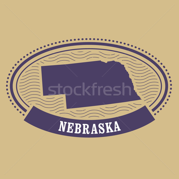 Nebraska mapa silhueta oval carimbo viajar Foto stock © gomixer