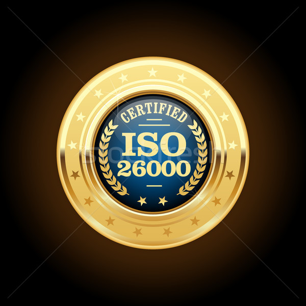 ISO 26000 standard medal - Social responsibility Stock photo © gomixer
