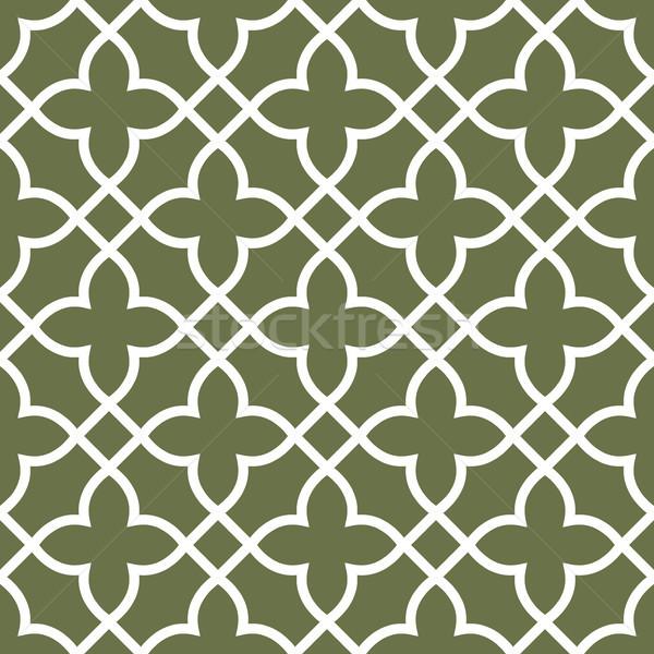 Figured seamless grating pattern - arabesque ornament Stock photo © gomixer