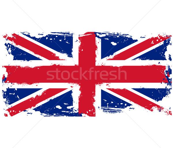 Banderą wielka brytania farby Zdjęcia stock © gomixer