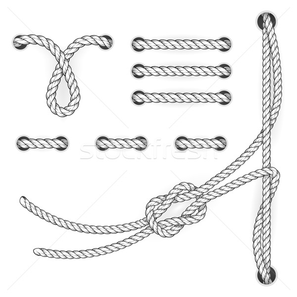 Attested document rope stitchs and loops - file filing suturing Stock photo © gomixer