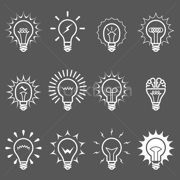 Ampuller lambalar simgeler fikir yenilik semboller Stok fotoğraf © gomixer
