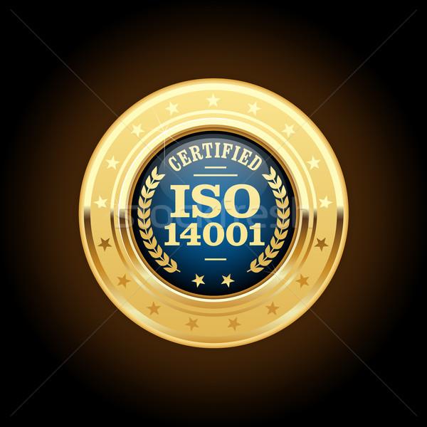 Iso 認定された 金メダル 品質 標準 ストックフォト © gomixer